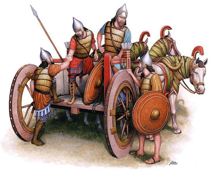 """Ángel García Pinto - Carro pesado o """"kallapani"""" asirio - Siglo VII AC."""