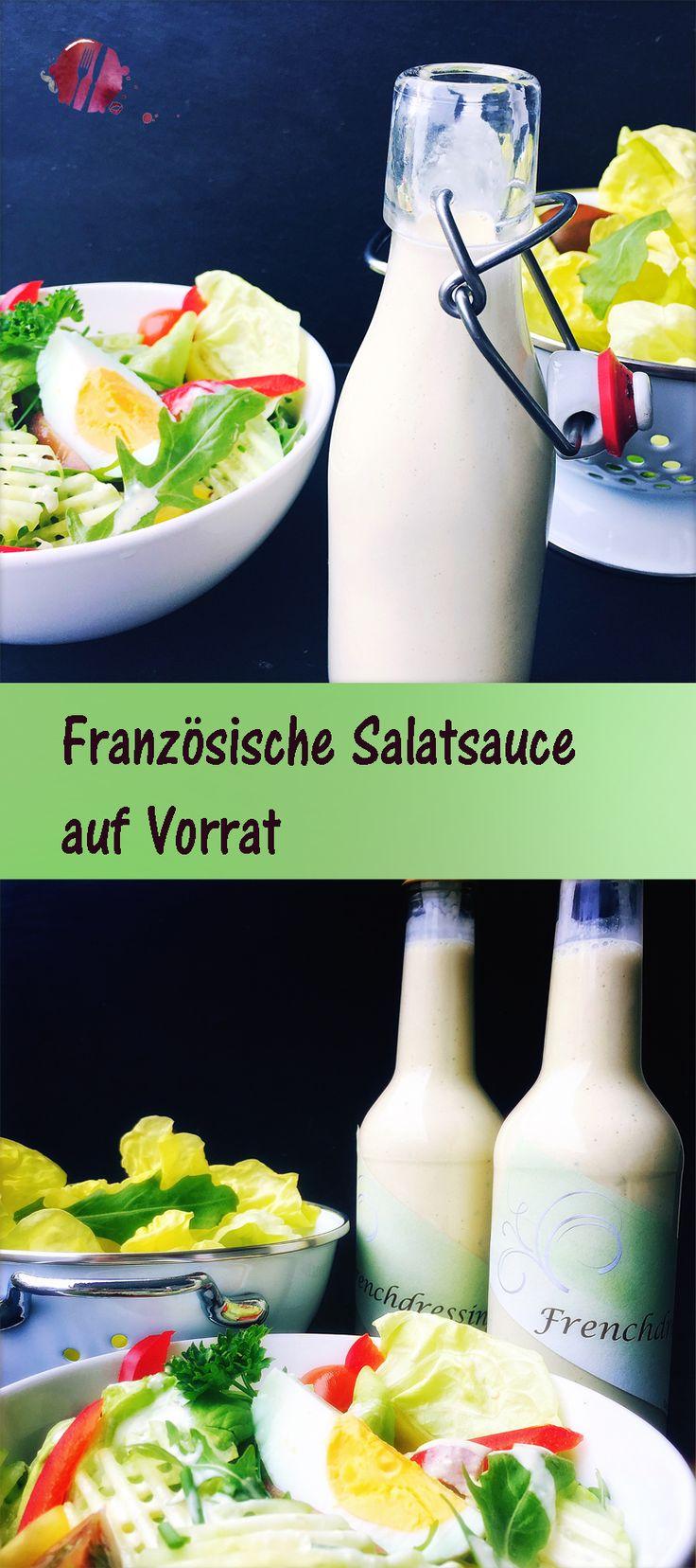 Diese Salatsacue, auch als French Dressing bekannt, kann sehr gut auf Vorrat hergestellt werden. Das Rezept stammt aus einem schweizer Restaurant. Es ist wohl die beste Salatsauce die wir kennen.