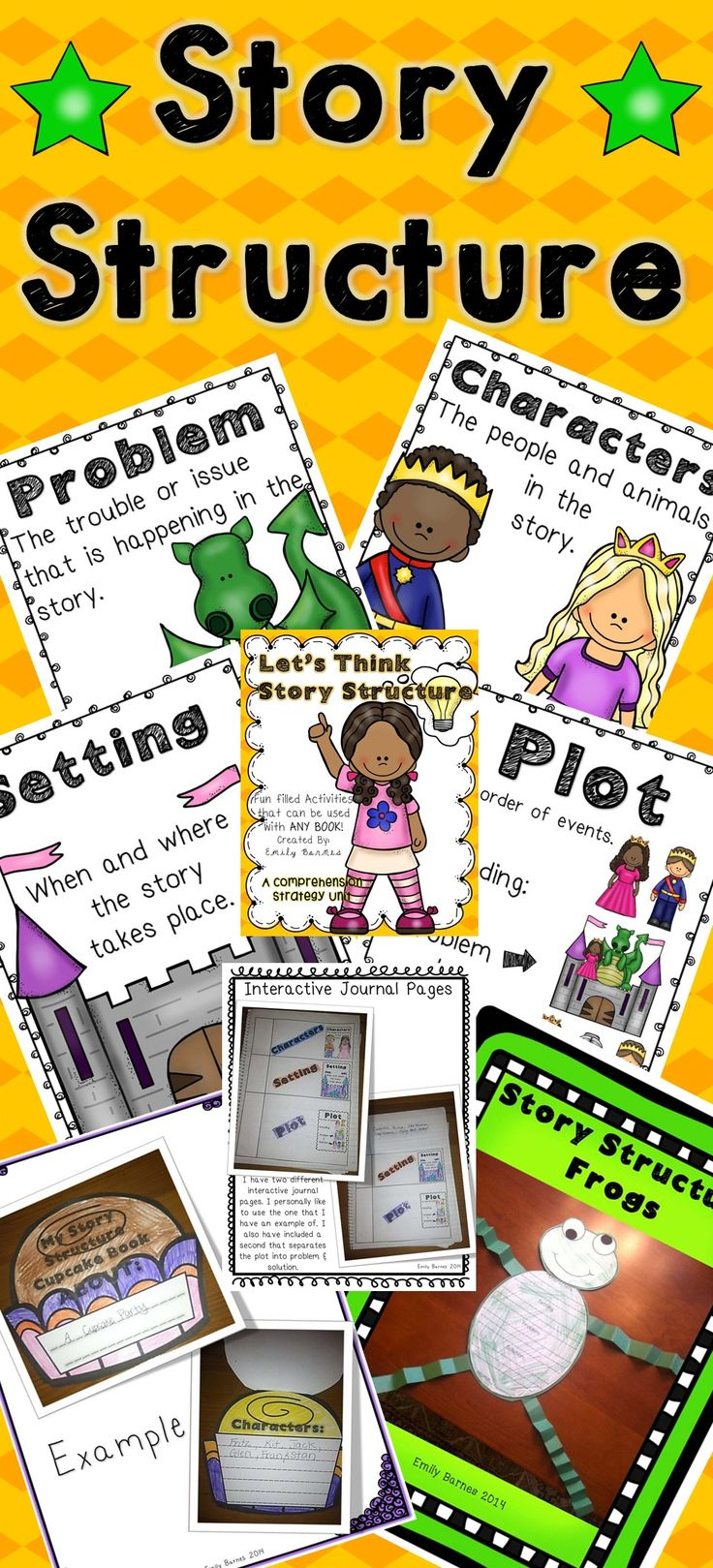 Story Structure! Activities for teaching your students all about the comprehension strategy Story Structure! Crafts, printables, interactive journal pages, anchor posters, THE WORKS! Use with any book!!!