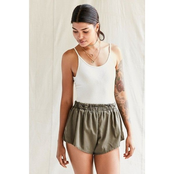 Urban Renewal Recycled Surplus Dolphin Short ($29) ❤ liked on Polyvore featuring shorts, urban shorts, cotton shorts, relaxed fit shorts, vintage dolphin shorts and relaxed shorts