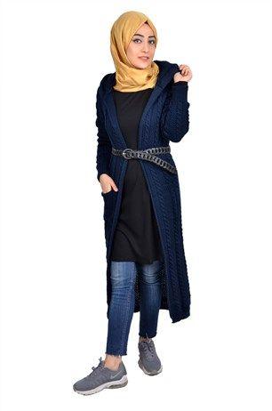 be9d5001bb353 En Şık Tesettür Örgü Hırka Modelleri - Moda Tesettür Giyim ...