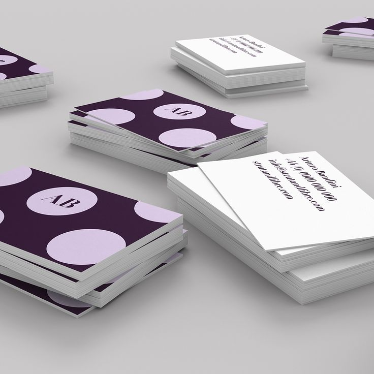 Bandini – one of our Spots business card templates available to customise and order on our site.