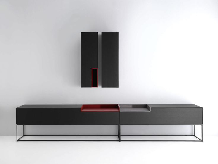 Buffet contemporain / laqué / modulable - INMOTION by Neuland Industriedesign - MDF Italia