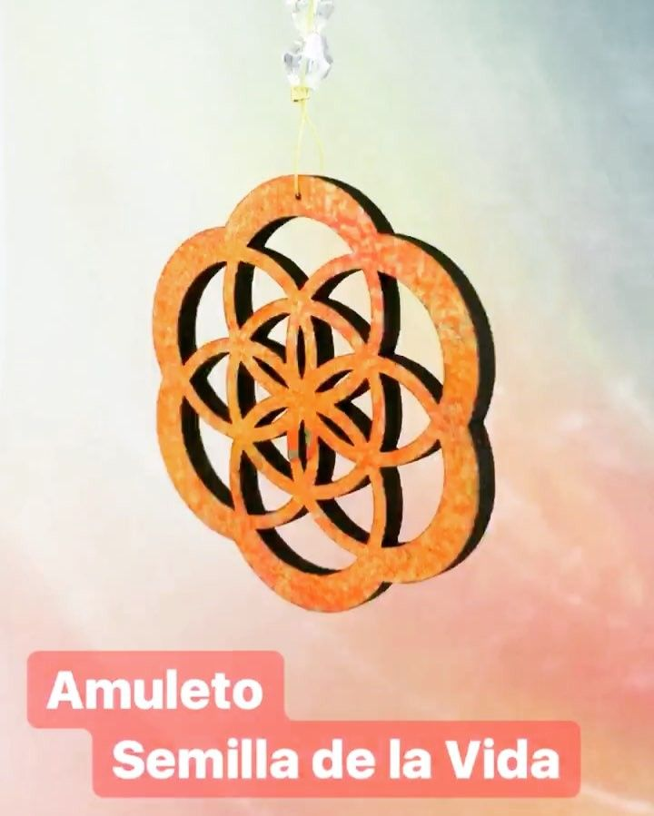 Amuleto: Semilla de la Vida  #altorrelieve #amuleto #semilladevida #semilla #flor #florvida #chile