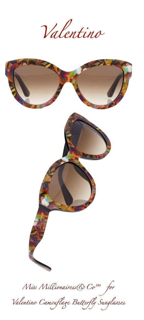 Valentino Camouflage Butterfly Sunglasses