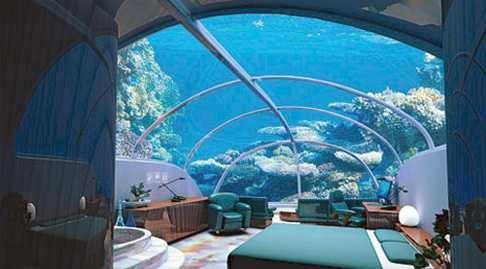 Nautilus Undersea Suite at The Poseidon Resort - Fiji.