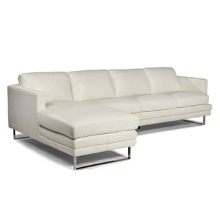 Melbourne Collection White  Sofa by Lazzaro Leather