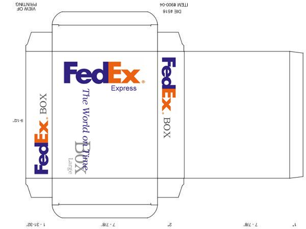 FedEx Box (Large) Papercraft by facundoneglia