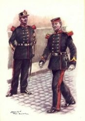 Belgique - Grenadiers - Sous-officier et tambour en tenue de sortie. 1910