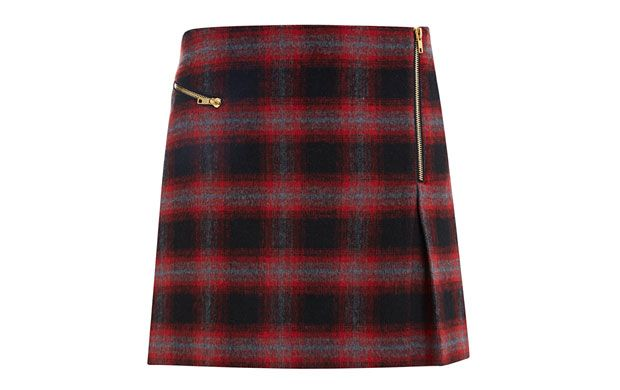 "Mini Zip Kilt. ""Embrace the trend for all things check in this cute mini-skirt with zip detailing."""