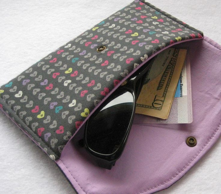 29 best eye glass case images on Pinterest   Glasses, Sewing ideas ... : quilted eyeglass case pattern - Adamdwight.com