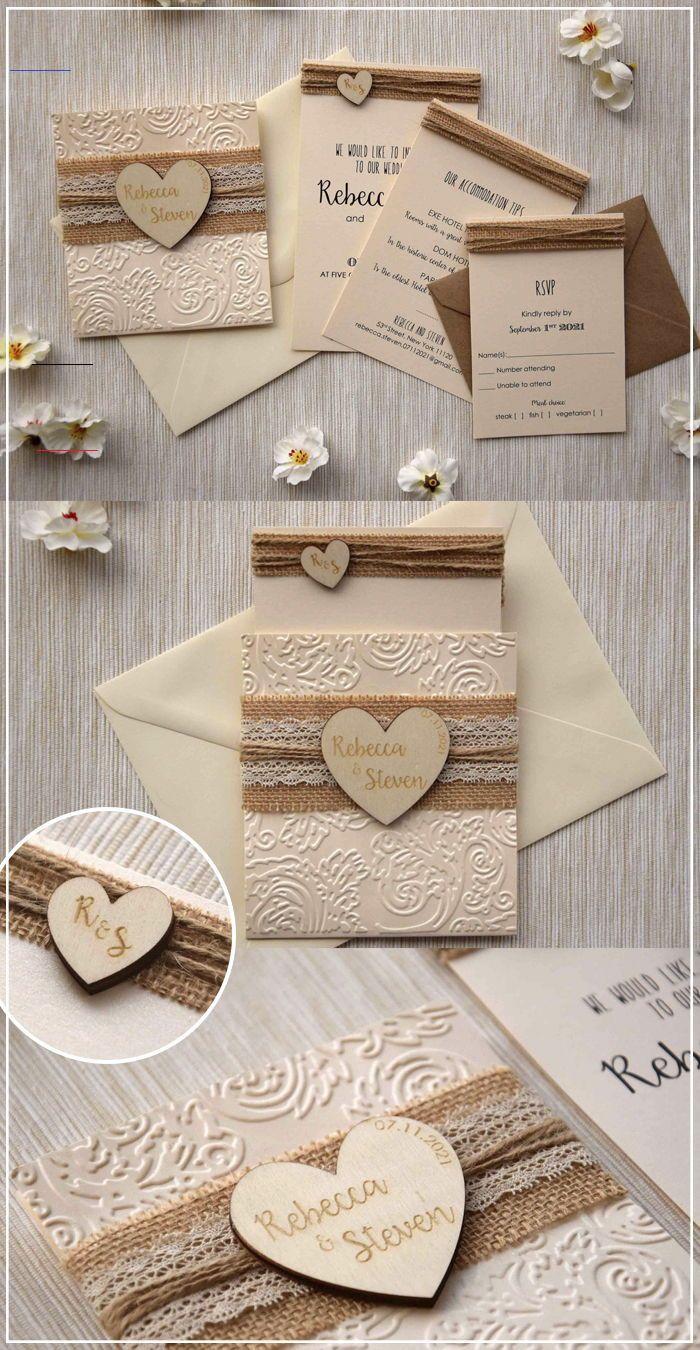 Rustic Lace Wedding Invitation Rustic Burlap And Lace Wedding Invitations Kit Inspired By Th In 2020 Hochzeitseinladung Selbstgemachte Hochzeitseinladungen Einladungen