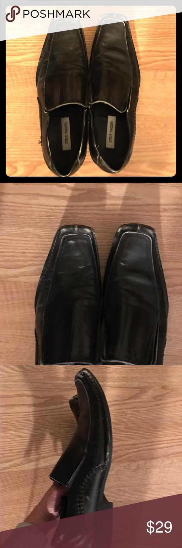 Steve Madden black leather loafers 10.5 black leather loafers. Size 10.5. Steve Madden. Ships within 24 hours. Steve Madden Shoes Loafers & Slip-Ons