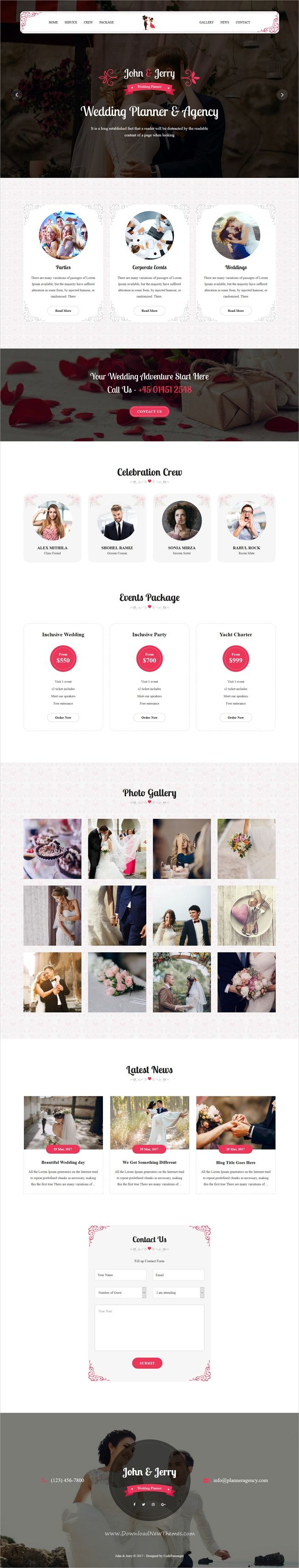 John and Jerry is clean and modern design 3in1 responsive #WordPress theme for #wedding #agency website download now > https://themeforest.net/item/john-jerry-a-wordpress-wedding-theme/19852079?ref=Datasata