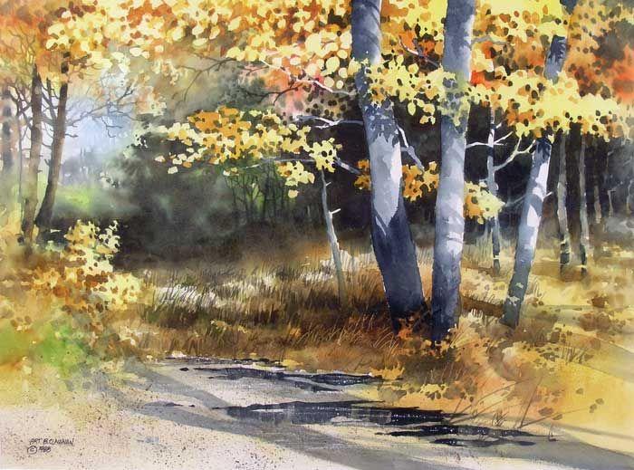 art cunanan | Birches and Cattails, Art Cunanan 1988