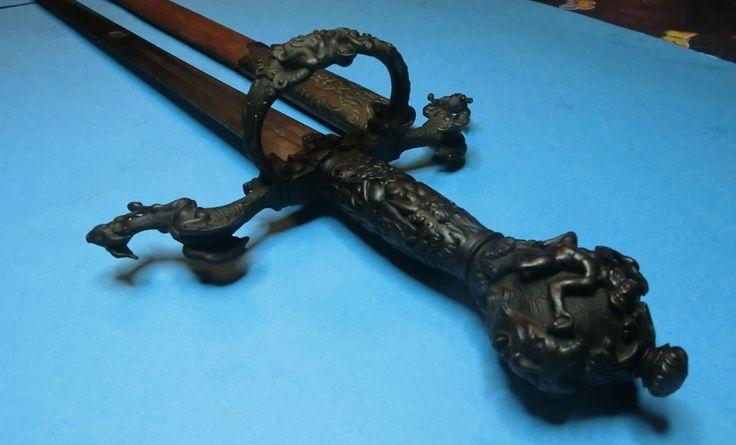 Masonic Devil Esoteric Small Sword Rapier circa 1750