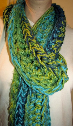 Crochet Scarf Pattern Q Hook : Crocheted scarf with a size Q hook crochet Pinterest