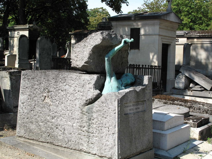Georges Rodenbach's grave at Pere Lachaise, Mandy Hager photo