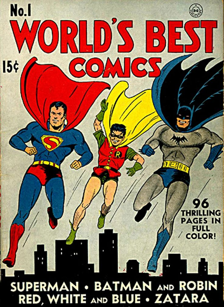 Worlds Best Comics Cover