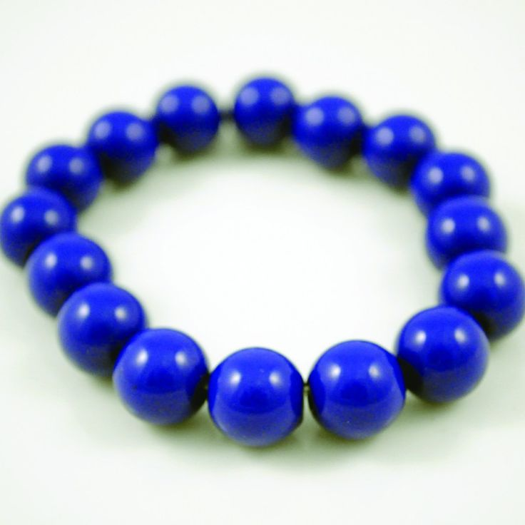 Dark Blue Bead Bracelet on Velvet Rose's Pin Up Dressing Room - The vintage shop tailored to you #Vintageinspiredjewellery  #ChristmasPresent Free Postage within Australia