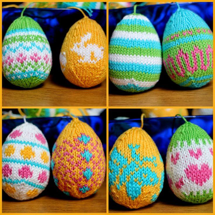 Knitting Easter Eggs : Best easter knitted eggs images on pinterest knitting