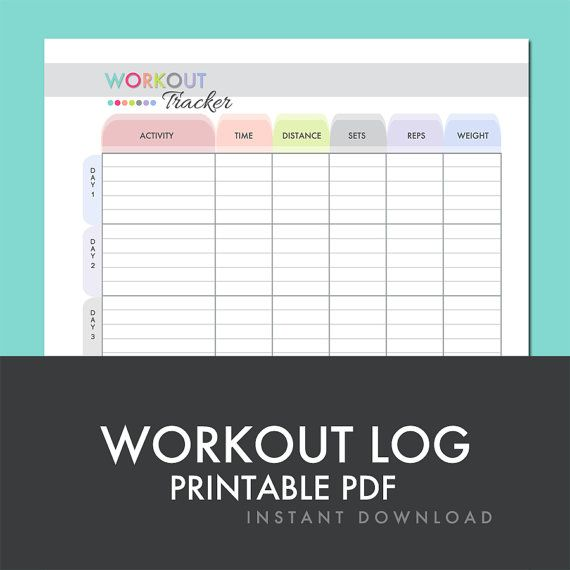 8 best exercise images on Pinterest Exercises, Printable - exercise log template