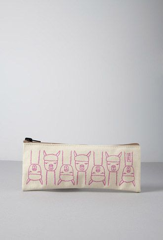 Stacy Michelson Llama Pencil Case | Forever 21 | #f21home