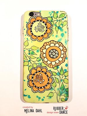 * Rubber Dance Blog *: DIY artsy phone case with flower stamps