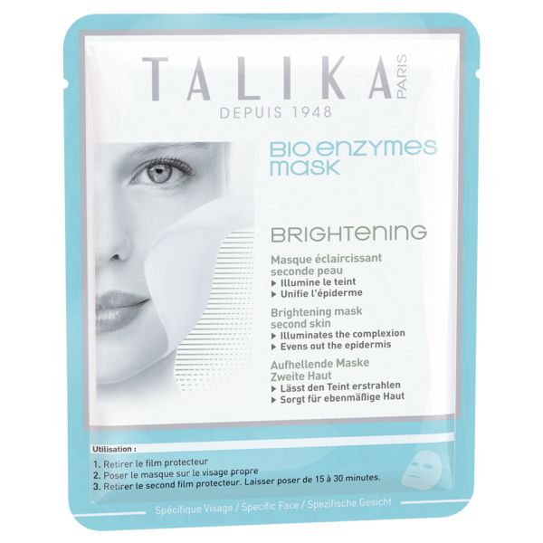"Talika BioEnzymes Mask Brightening: """"""Talika Bio Enzymes Mask Brightening is made of bio cellulose, a 100% natural fiber used as…"