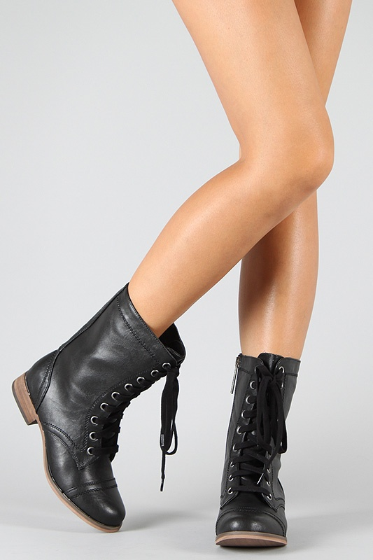 Military Mid Calf Boot / Breckelle