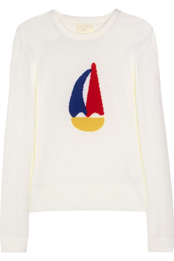 Boy. by Band of Outsiders | Boat-intarsia wool sweater | NET-A-PORTER.COM