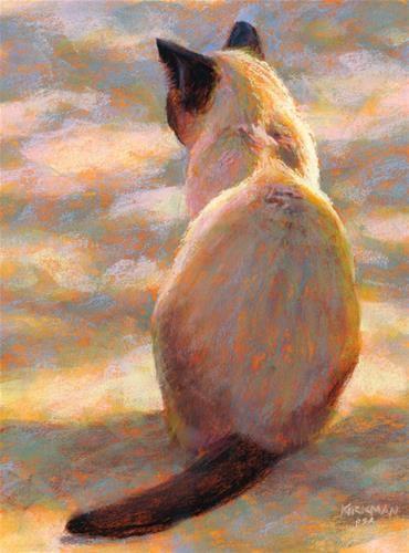 "Daily Paintworks - ""Cat-ness - day 13"" - Original Fine Art for Sale - © Rita Kirkman...siamese art"