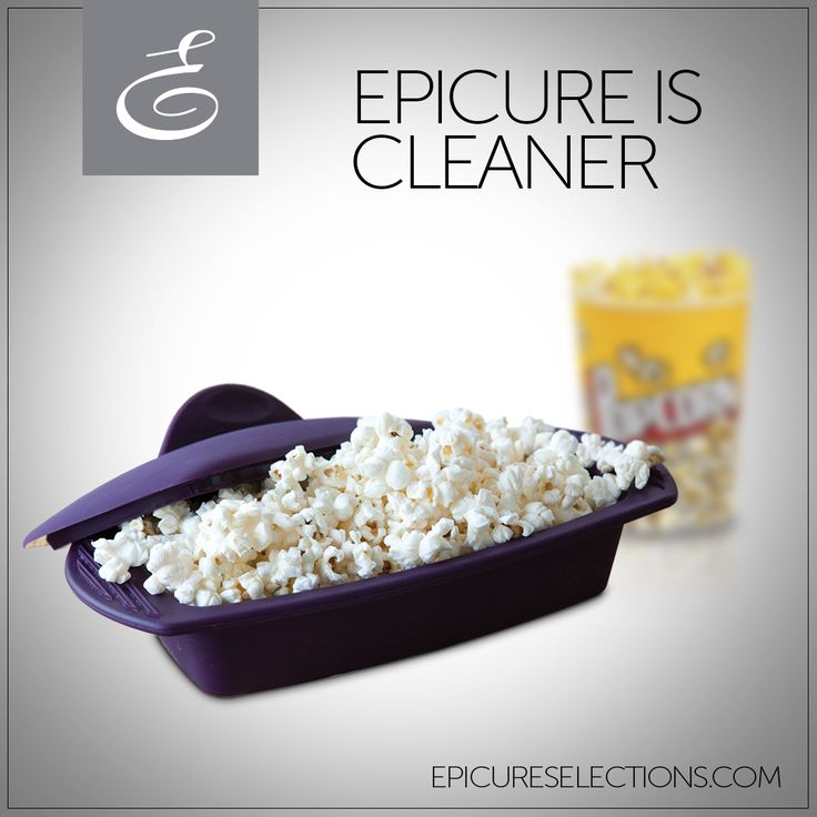 Healthy snacking is a cinch with Epicure's Silicone Steamer. It makes FAT-FREE popcorn in 2 minutes! Microwave popcorn bags have added chemicals and can be packed with artery-clogging saturated fats. #glutenfree