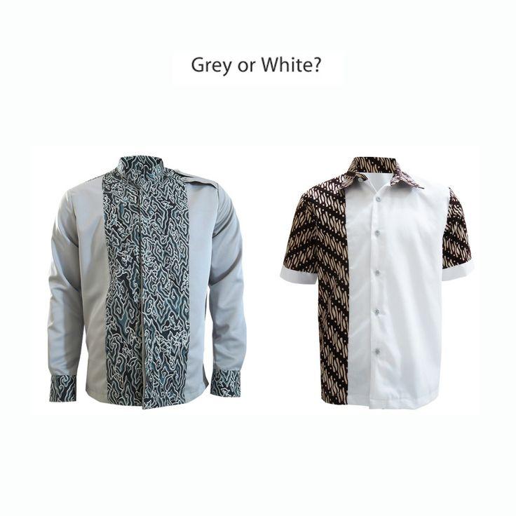 Calm colors shirt, grey n white brown  #kemejabatikmedogh  http://medogh.com/baju-batik-pria/kemeja-batik-pria