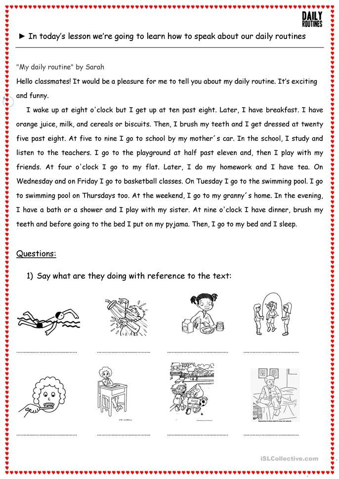 Daily Routine Told You So My Life Essay In English For Clas 8 6