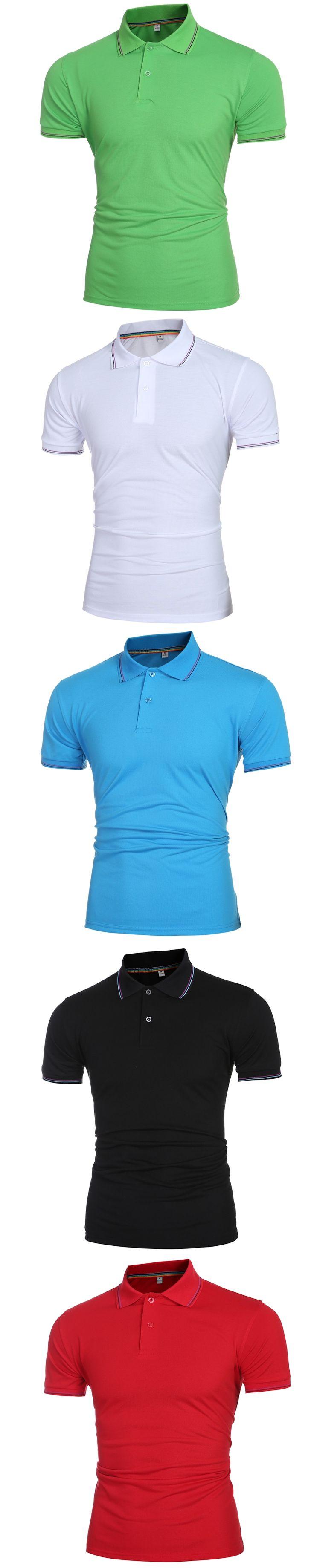 New Arrival 2017 Summer Short Sleeve Shirt Men Brand Polo Shirts For Men Fashion Cotton Brand jerseys Fashion Hip Hop Tops Tees