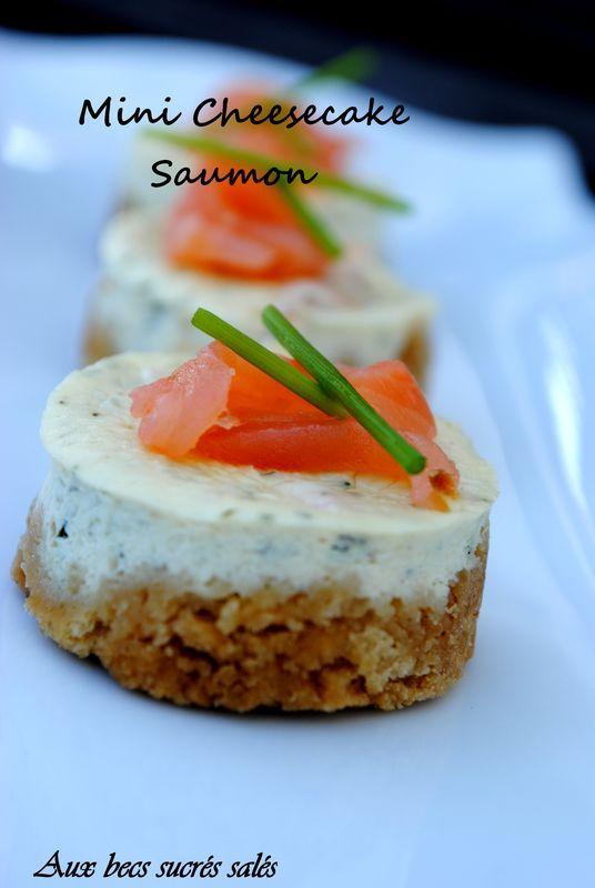 Mini cheesecake au saumon fumé