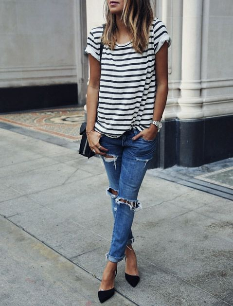 Proof That Rolling Your Pant Cuffs Can Elevate Any Outfit via @PureWow