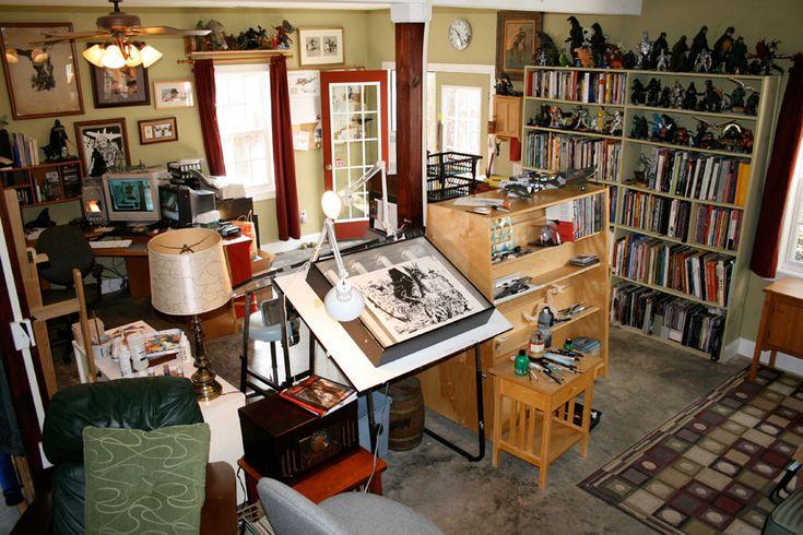 495 best studio setups images on pinterest artist studios work spaces and desks. Black Bedroom Furniture Sets. Home Design Ideas