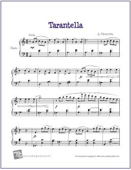 Tarantella (Pieczonka) | Free Sheet Music for Piano - http://makingmusicfun.net/htm/f_printit_free_printable_sheet_music/tarantella-piano.htm