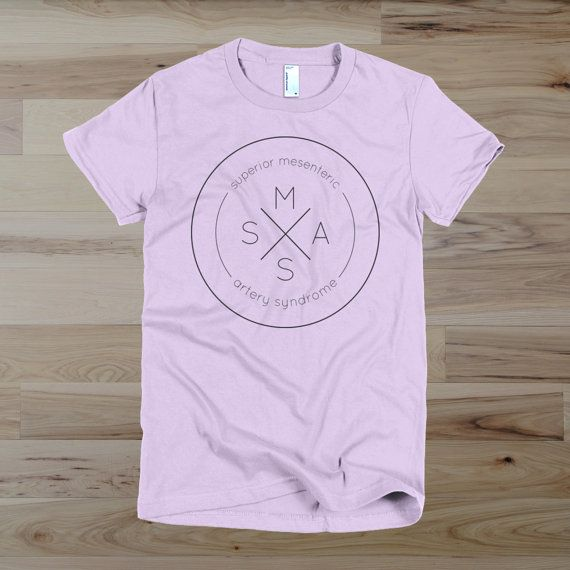 Superior Mesenteric Artery Syndrome SMAS Vintage Style Logo