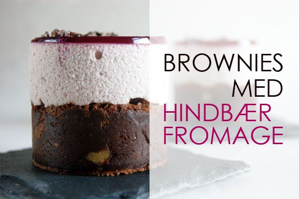 Brownies med hindbærfromage