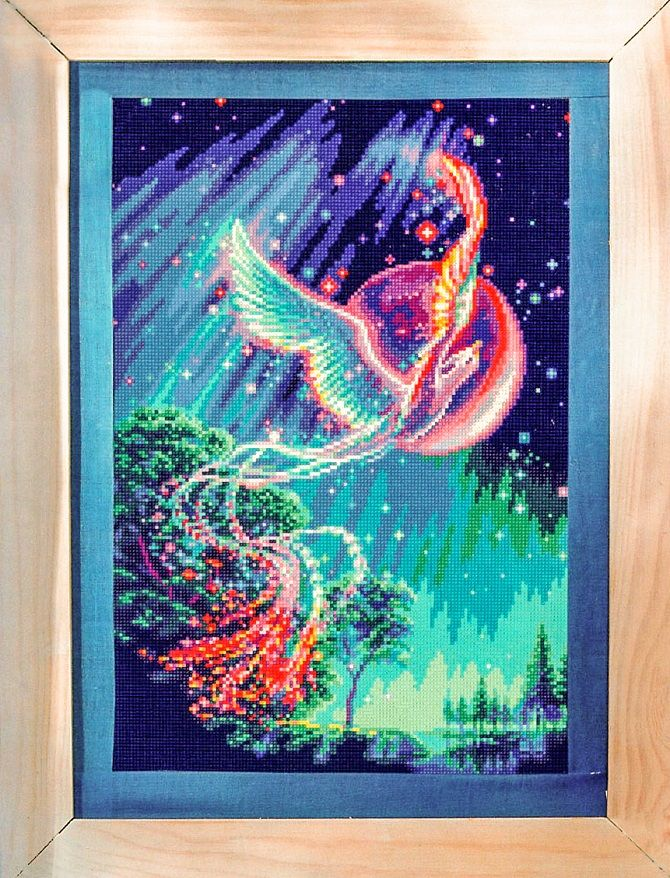 Free cross stitch pattern Phoenix