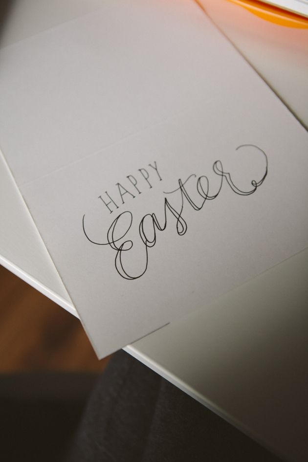 Happy Easter Card (How to w/calligraphy tips)