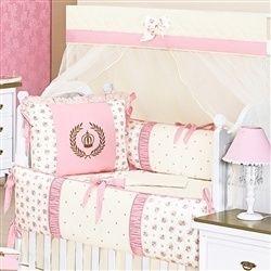 O Kit Berço Coroa Rosa vai ficar perfeito no quarto de bebê de princesa da sua pequena!