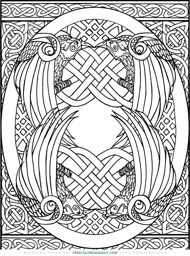 Celtic knot coloring pages to download and print for free | Celtic ... | 873x650