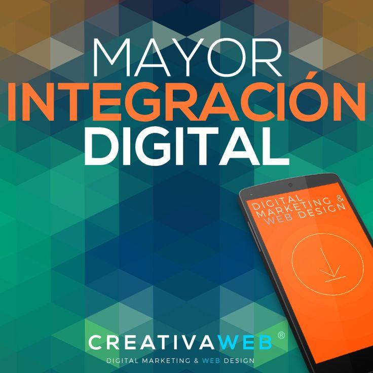 En Creativa Web® te damos Mayor Integración Digital, encuentra la solución que necesitas para tu marca, visítanos en http://www.creativaweb.co/ marketing mobile responsive web design digital webdesign