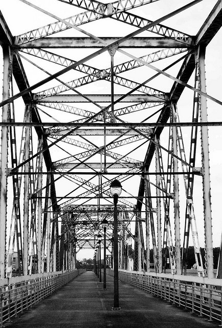Old Hwy 59 Bridge over San Jacinto River, Humble, Texas 1004091552BW by Patrick Feller, via Flickr