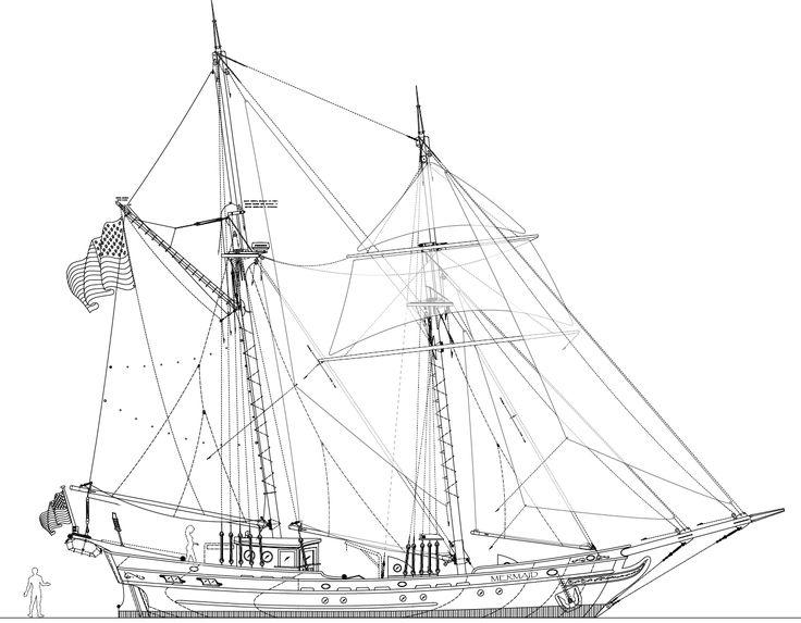 Kastenmarine Com   Drawings  Mermaid 61 Sail Plan Png