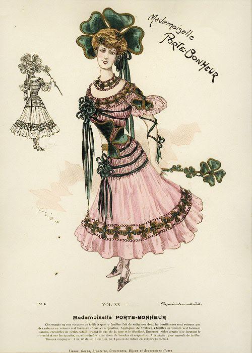 My Little Time Machine — gravesandghouls: Fancy Dress Costumes c. 1800s...Lucky Charm